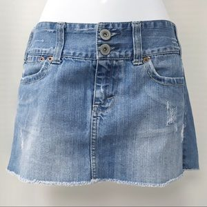 American Eagle Outfitters Skirts - American Eagle Distressed Denim Mini Skirt, Size 6